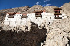 Ruins of royal palace in Tiger, Nubra valley Royalty Free Stock Image