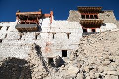 Ruins of royal palace in Tiger, Nubra valley Stock Images