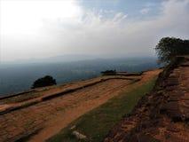 Ruins of the Royal Palace on top of lion rock, Sigiriya, Sri Lanka, UNESCO world heritage Site royalty free stock images