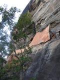 Ruins of the Royal Palace on top of lion rock, Sigiriya, Sri Lanka, UNESCO world heritage Site royalty free stock photography