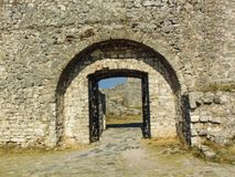 Ruins for Rozafa Castle, Albania. stock photos