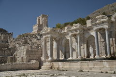 Ruins of Sagalossos, antic city. Ruins of beautiful antic city Sagalossos in Turkey stock image