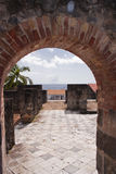 Ruined Saint Pierre in Martinique Stock Photos