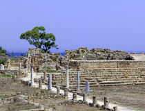 Ruins of Salamis near Famagusta Stock Images