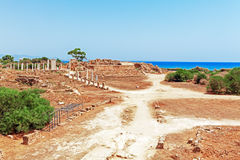 Ruins of Salamis near Famagusta Royalty Free Stock Photography
