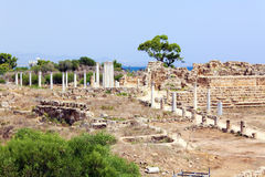 Ruins of Salamis near Famagusta Stock Photography