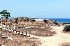 Ruins of Salamis near Famagusta Royalty Free Stock Photos