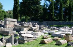 Ruins of Salona -Roman ancient city Stock Photos