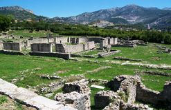 The ruins of Salona, Roman ancient city Royalty Free Stock Images