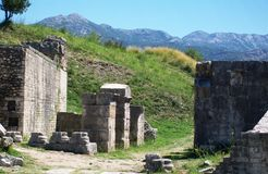 Ruins of Salona -Roman ancient city. The remains of Capital of Roman `a province, Dalmatia Stock Images
