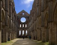 Ruins of San Galgano stock photos