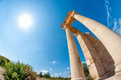 Ruins of the Sanctuary of Apollo Hylates - one of the most popular touristic place in Cyprus Stock Image