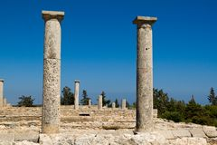 Ruins at the Sanctuary of Apollon Ylatis, Cyprus Stock Images