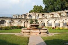 Ruins of Santa Clara convent at Antigua royalty free stock photos