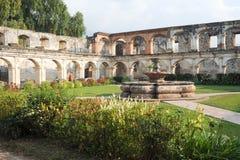 Ruins of Santa Clara convent at Antigua Royalty Free Stock Photography