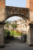 Ruins of Santa Clara convent at Antigua. On Guatemala stock images