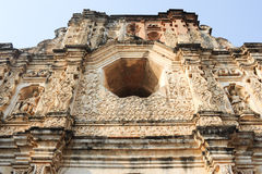 Ruins of Santa Clara convent at Antigua. On Guatemala stock photo