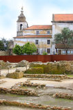Ruins in Sao Jorge Castle Stock Photography