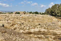 Ruins of Saranta Colones Castle in Paphos, Cyprus. Stock Image