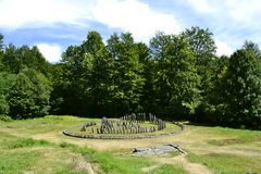 The ruins of Sarmizegetusa Regia, the capital of the Dacian king Stock Photography