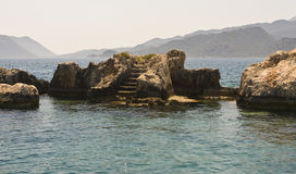 Ruins in the sea Stock Images