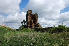 Ruins of Seafield Tower Royalty Free Stock Photography