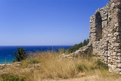 Ruins at seaside Stock Image