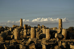 Ruins in Selinunte Stock Photography