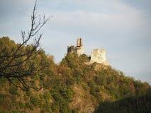 Ruins of Senftenberg castle in Austria stock photos