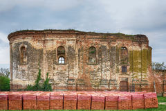 Ruins of the Serbian Orthodox Church of the Holy Spirit which was built in 1814 and burned in World War II Stock Photos