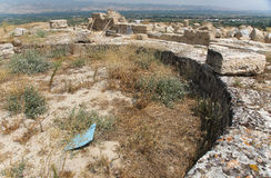 Ruins of the Seventh Church of Apocalypsis in Laodicea on the Lycus. Ruins of the assumed Seventh Church of Apocalypsis in archaic Laodikeia city at the Denizli Royalty Free Stock Images