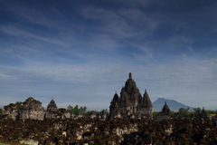 Ruins of Sewu Temple. Sewu Temple, located in Jogjakarta was patterned according mandala. This is the main building (manjusri) shoot, along with the mandala Stock Photo