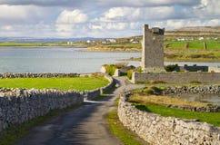 Ruins of Shanmuckinish Castle. Near Muckinish West, Ireland Stock Photos