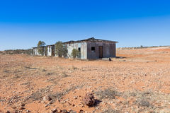 Ruins of shearing shed in the Australian outback. Royalty Free Stock Image