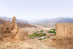 The ruins of Shey Palace complex and Indus Valley in Ladakh, India Royalty Free Stock Images