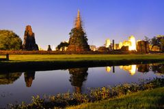 Ruins of Si Sanphet temple in Ayutthaya, Thailand Stock Image