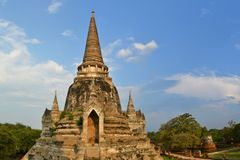 Ruins of Si Sanphet temple in Ayutthaya, Thailand Stock Photography