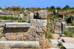 Ruins in Side. Ancient ruins in Side Turkey royalty free stock photography