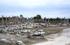 Ruins in Side, Turkey Royalty Free Stock Photography
