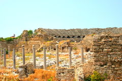 Ruins in Side, Turkey Stock Photography