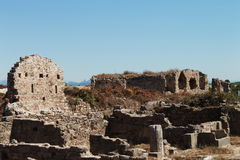 The ruins of Side Royalty Free Stock Photo