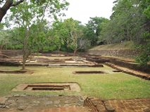 Ruins in Sigiriya rock in Kandy. Stock Photography