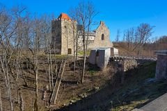 Ruins of Sigulda Castle Stock Photo