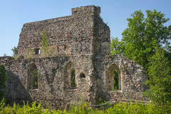 Ruins of Sigulda medieval castle Stock Photo