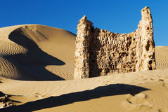 Ruins on the Silk Road. The HeiCheng(Black-City),it's ruins on th silk road Royalty Free Stock Image