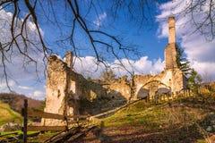 Ruins of Sklabina castle, Slovakia. royalty free stock photos