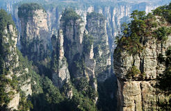 Ruins of Sky Bridge. China's Hunan Province Zhangjiajie Forest Park stock photo