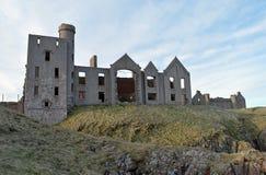 Ruins of Slains Castle, Aberdeenshire, Scotland Stock Photos