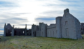 Ruins of Slains Castle, Aberdeenshire, Scotland Stock Images