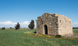 Ruins of a small Christian church Royalty Free Stock Images